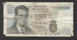 België Belgique Belgium 15 06 1964 -  20 Francs Atomium Baudouin. 3 X 5808493 - [ 6] Schatzamt