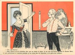 """LE RASOIR """"BIJOU"""" - CARTE PUB ANCIENNE à SYSTEME FENËTRE DOUBLE, FORMAT OUVERT (11 X 14 Cm) - TB. - Advertising"""