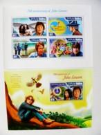 SALE! 2 M/s Maldives 2014 Music John Lennon The Beatles Yoko Ono Yellow Submarine - Maldiven (1965-...)