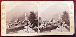 VALSESIA ALLAGNA VAL SESIA  PHOTO STEREO ALPES ITALIENNES PAR E. LAMY 1900 ITALIE ITALIA PIEMONTE AOSTE - Italia