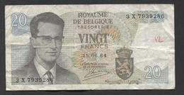 België Belgique Belgium 15 06 1964 -  20 Francs Atomium Baudouin. 3 X 7939286 - [ 6] Schatzamt