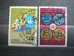 Trade And Development # United Nations UN Vienna Austria 1983 Used #Mi. 34/5 Flags  Coins - Oblitérés