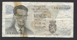 België Belgique Belgium 15 06 1964 -  20 Francs Atomium Baudouin. 3 X 8910080 - [ 6] Treasury