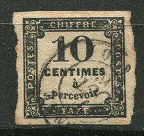 France  Taxe Ob N° 2- 10c Noir - Taxes