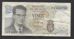 België Belgique Belgium 15 06 1964 -  20 Francs Atomium Baudouin. 3 Y 0998730 - [ 6] Treasury
