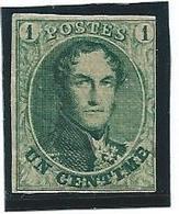 België 9b Donkergroen Postfris - 1858-1862 Médaillons (9/12)