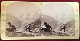 VALLE D'AOSTA LE MONT-ROSE GALCORO MACUGNAGA MONTE-ROSA PHOTO STEREO ALPES ITALIENNES E. LAMY 1900 ITALIE ITALIA AOSTE - Italia