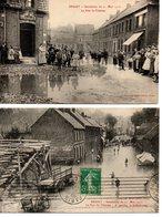 Bruay: 2 Cpa Inondation - Autres Communes