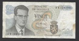 België Belgique Belgium 15 06 1964 -  20 Francs Atomium Baudouin. 3 Y 1243901 - [ 6] Treasury