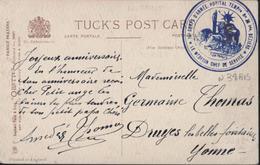 Guerre 14 FM Cachet Déesse 16e Corps D'armée Hôpital Temporaire N°38 Bis Béziers Médecin Chef Service Enfants Prières - Marcophilie (Lettres)