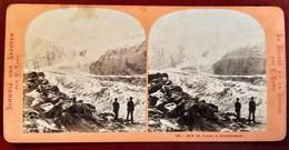 MER DE GLACE A GRINDELWALD SUISSE OBERLAND ALPINISME STEREO ALPES E. LAMY SUISSE 1900 MONT-BLANC - Photos Stéréoscopiques