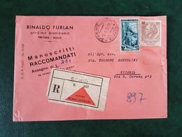 (36767) STORIA POSTALE ITALIA 1956 - 6. 1946-.. Repubblica
