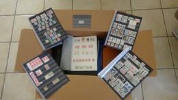 Carton 26 Kgs Dont France N° 33 Obl, Lot Espagne * Et ** Côte 4550 Euros + Variétés Anciennes Colo ... Voir Commentaires - Timbres