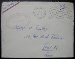Maroc 1959  Légion Mixte De Gendarmerie Française Rabat Chellah, Cachet Rouge - Morocco (1956-...)