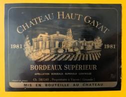 10495 - Château Haut Gayat 1981 - Bordeaux