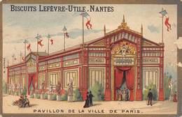 Chromos Réf. T 18-106. Biscuits Lu -Pavillon De La Ville De PAris - Lu