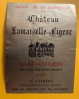 10512- Château Lamarzelle Figeac 1971  Saint-Emilion - Bordeaux