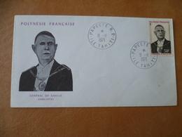 POLYNESIE FRANCAISE  POSTE N° 90   DE GAULLE - French Polynesia