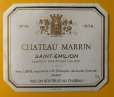 10520 - Château Marrin 1971 & 1976 Saint-Emilion  2 étiquettes - Bordeaux