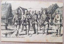 Germany Feldpost 1916 Ausmarsch Zum Schanzen Spots - Non Classificati