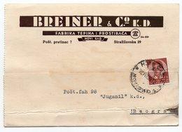 1939 YUGOSLAVIA, SERBIA, NOVI SAD, BREINER & CO, - 1931-1941 Regno Di Jugoslavia