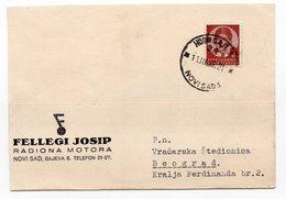 1938 YUGOSLAVIA, NOVI SAD, FELLEGI JOSIP MOTOR FACTORY - 1931-1941 Kingdom Of Yugoslavia