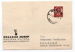 1938 YUGOSLAVIA, NOVI SAD, FELLEGI JOSIP MOTOR FACTORY - 1931-1941 Regno Di Jugoslavia