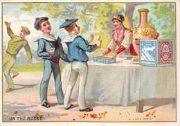 Chromos Réf. T 18-109. Biscuits Lu - Un Thé Russe - Marins, Uniformes - Lu