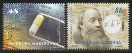 MK 2018-05 SCIENCES - STREPTOMICIN & JAMES PRESCOTT JOULE, MACEDONIA, 1 X 2v, MNH - Macedonia