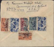 Cote Française Des Somalis YT 277 X2 + 278 279 243 X2 CAD Bleu Cote Fse Des Somalis Djibouti 24 Oct 1949 - Lettres & Documents