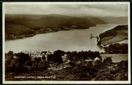 Ref 1285 - 1942 Real Photo Postcard - Vyrnwy Hotel & Lake - Montgomeryshire Wales - Montgomeryshire