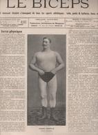 1903 - LE BICEPS - LUTTE FRANCAISE OU GRECO-ROMAINE - BOXE FRANCAISE - BOXE ANGLAISE - POIDS ET HALTERES - - Sport