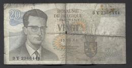 België Belgique Belgium 15 06 1964 -  20 Francs Atomium Baudouin. 3 Y 2366444 - [ 6] Schatzamt