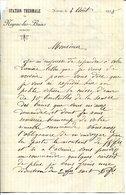 07.ARDECHE. LETTRE DE LA STATION THERMALE DE NEYRAC LES BAINS. - Vieux Papiers