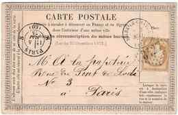 PARIS BC CACHET RP1375 EN ARRIVEE - 1849-1876: Période Classique