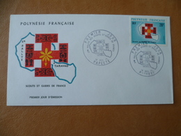 POLYNESIE FRANCAISE FDC POSTE N° 91  RALLYE SCOUT ET GUIDE DE FRANCE - FDC