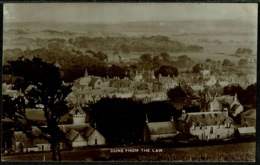 Ref 1285 - Early Real Photo Postcard - Duns From Law - Berwickshire Scotland - Berwickshire