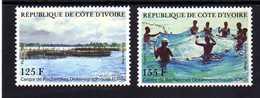 """COTE IVOIRE / IVORY C. 1986  MNH  -  """" CENTRE RECHERCHES OCEANOGRAPHIQUES """"   -  2  VAL - Côte D'Ivoire (1960-...)"""