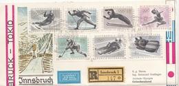 (3 Scan) ÖSTERREICH - GREECE - JAPAN, R-FP 1964 - Ö - Olympiasatz Frankierung + 2 Sondermarken Griechenland U.mehr... - Errores & Curiosidades