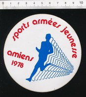 Autocollant Sticker Publicité Sports Armées Jeunesse Amiens 1978 Course à Pied Sport 21ADH16 - Stickers