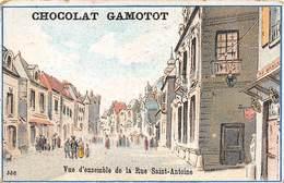 Chromos Réf. T 18-119 - Chocolat Gamotot - Vue D'ensemble De La Rue Saint-Antoine - Unclassified