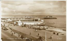 Cpa Worthing, Bandstand And Pier, Voitures Anciennes, Old Cars - Worthing