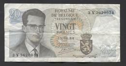 België Belgique Belgium 15 06 1964 -  20 Francs Atomium Baudouin. 3 Y  3620034 - [ 6] Treasury