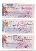 """WIEN, SOFIA, PRAHA 1929: Lot De 6 Chèques """"National Provincial Bank Limited  Tttb état  Voir Scanq - Chèques & Chèques De Voyage"""