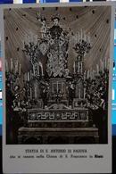 732 RIETI STATUA DI S ANTONIO DI PADOVA CHE SI VENERA CHIESA S FRANCESCO 1942 - Rieti