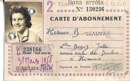 Carte SNCF AMIENS Annuelle - Autres