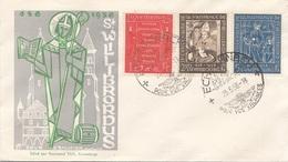 LUXEMBOURG 1958 - 3 Sondermarken Auf Schmuckbrief Mit Sonderstempel - Luxemburg