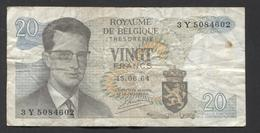 België Belgique Belgium 15 06 1964 -  20 Francs Atomium Baudouin. 3 Y  5084602 - [ 6] Schatzamt
