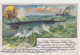 Walfischfang (Reuzen-Walvisch-Tentoonstelling) - Litho - 1902           (190503) - Métiers