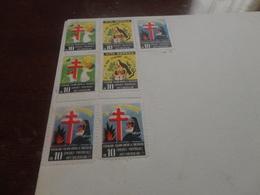 MARCHE DA BOLLO FEDERAZIONE ITALIANA CONTRO LA TUBERCOLOSI  SU PAGELLA SCOLASTICA- 7  MARCHE  DA 10 LIRE - 1958 - Revenue Stamps